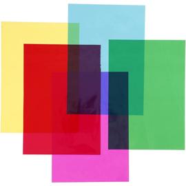 Cellofaan - A4 - 100 stuks - 5 kleuren