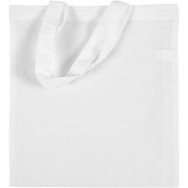 Tas van wit katoen - 28 x 30 cm - 130 g/m2
