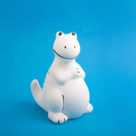 Spaarpot Dinosaurus - wit -  13 cm