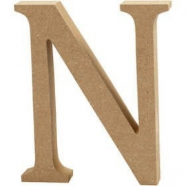 MDF Letter N 13 cm