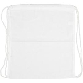 Rugzak / Gymtas Wit - inkleurbaar met textielstiften - 37 x 41 cm - 130 g/m2