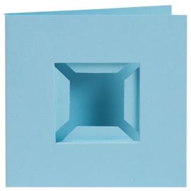4 Kaarten met Passe-partout voor Pixelhobby Basisplaatje - blauw