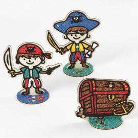 Piraat van hout met standaard - B-keuze