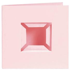 4 Kaarten met Passe-partout voor Pixelhobby Basisplaat - roze