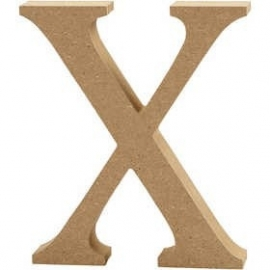 MDF Letter X 13 cm