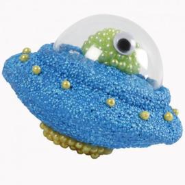 Knutselidee: Ruimteschip van Foam en Pearl Clay