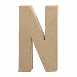Papier-mache Letter N - 20 cm