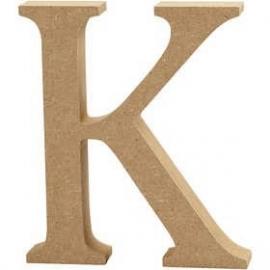 MDF Letter K 13 cm