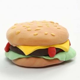 Silk Clay Voorbeeld : Hamburger Koelkastmagneet
