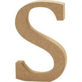 MDF Letter S 13 cm