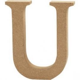 MDF Letter U 13 cm