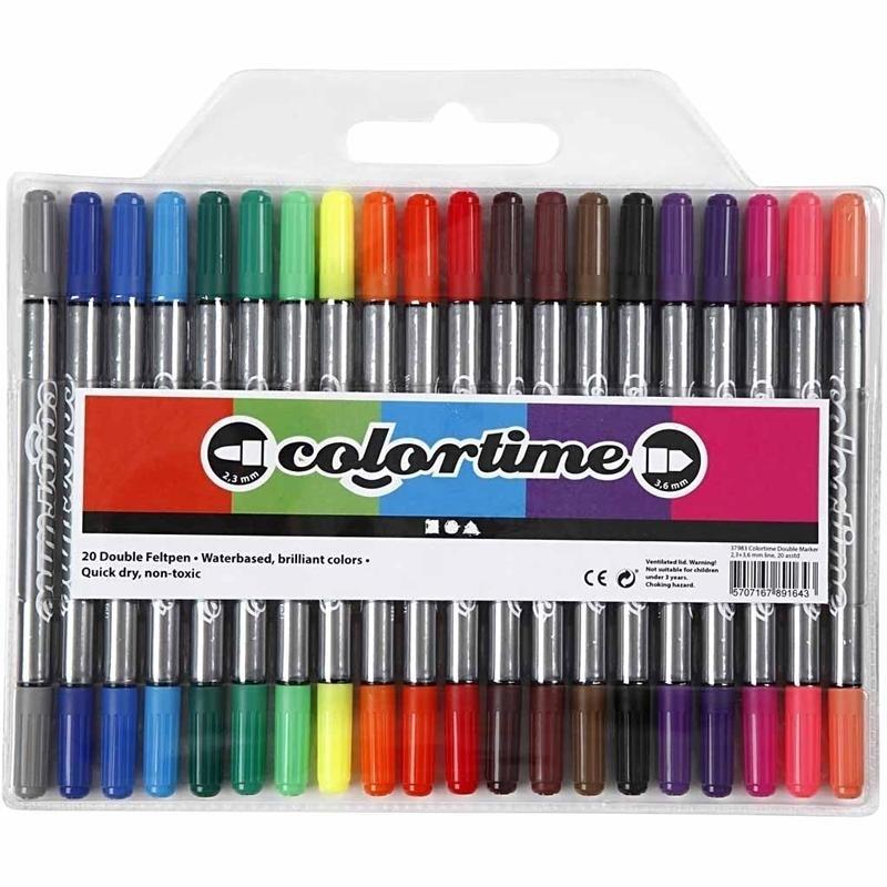 Colortime Dubbelstiften - 20 kleuren