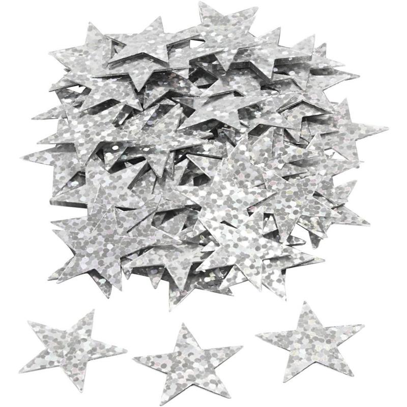 Ster Pailletten - Zilver metallic