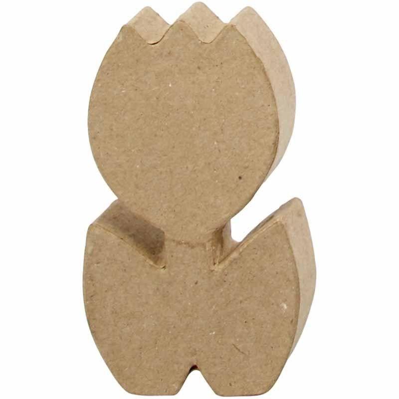 Tulp van papier-mache | 19cm
