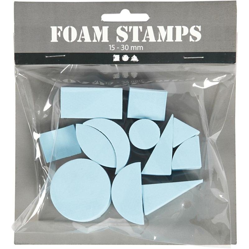Foam Stempels   15-30 mm   12 st