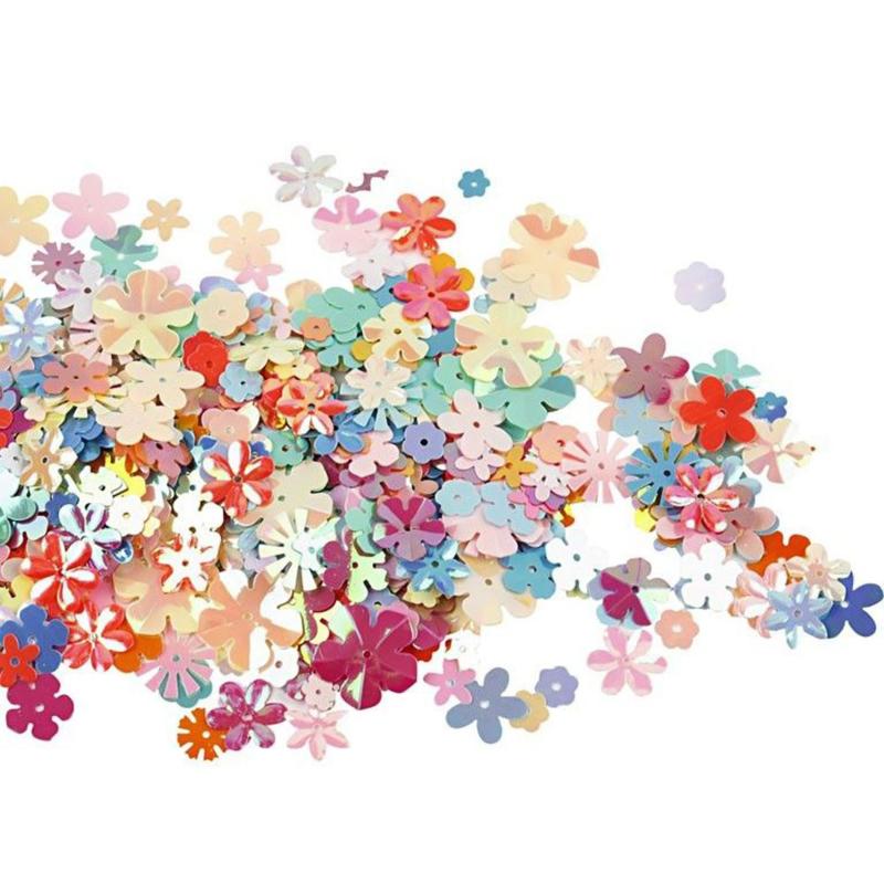 Paillettenmix Bloemen in Parelmoer kleuren - 5-20 mm - 10 gr