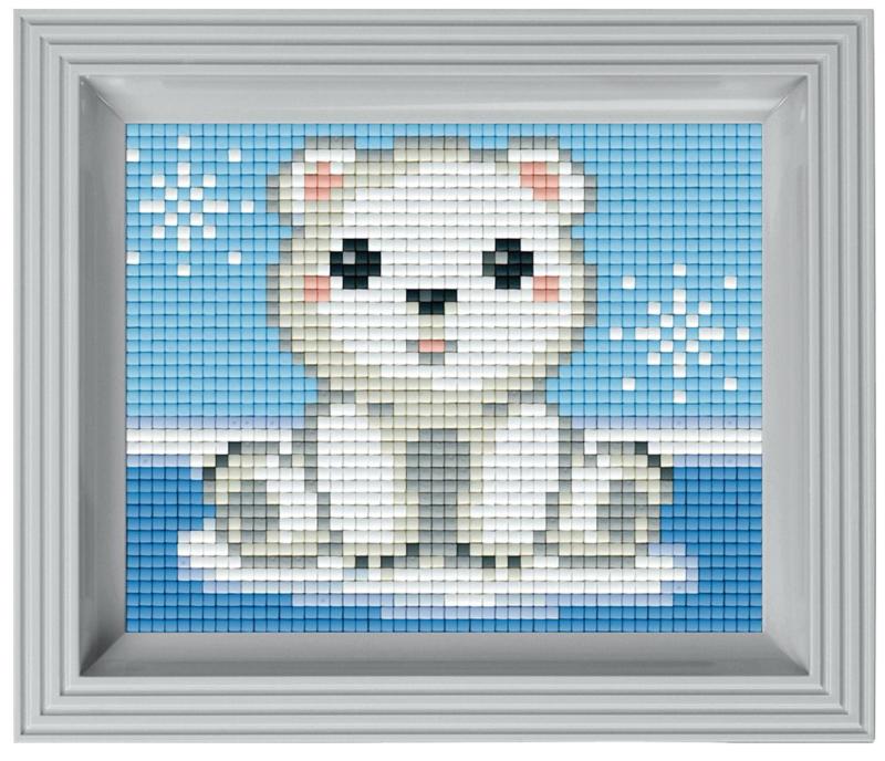 Pixelhobby Geschenkset incl. Lijst - Schattig IJsbeertje