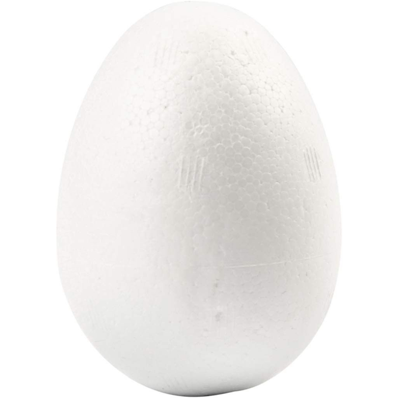 5 Styropor Eieren - hoogte 6 cm