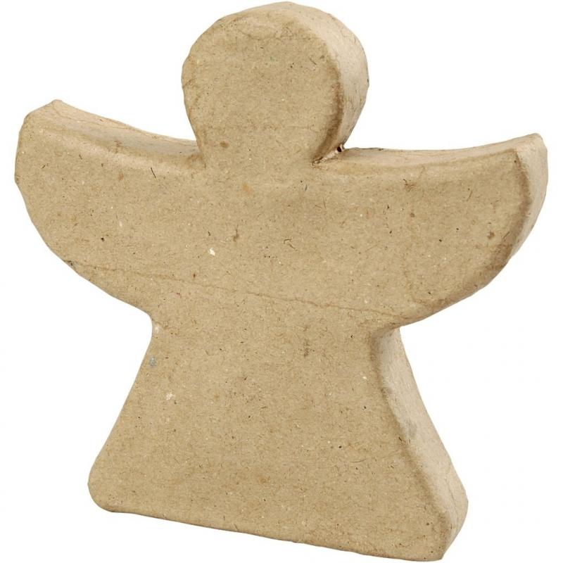 Engel van Papier-Mache 14 cm