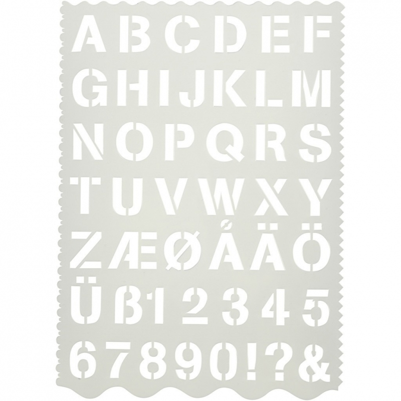 Alfabet Sjabloon