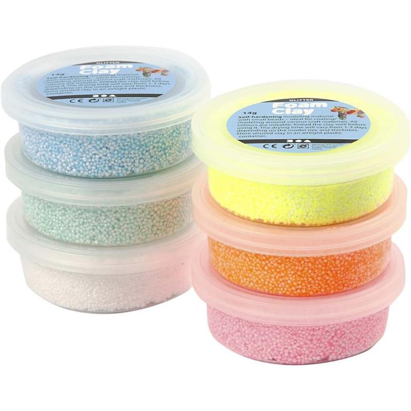 Foam Clay Glitter - Klei - 6 x 14 gr