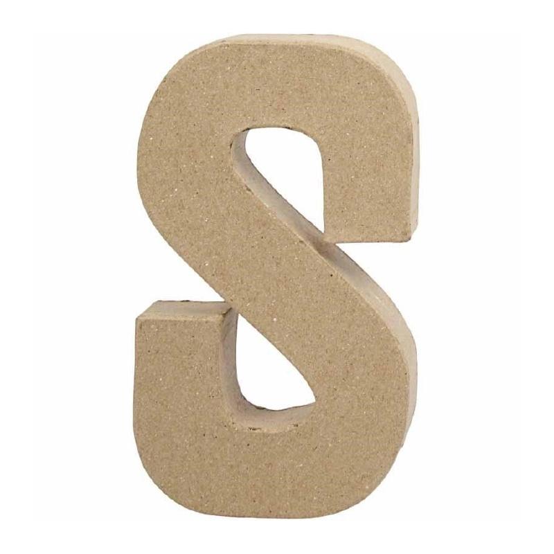 Papier-mache Letter S | 20 cm