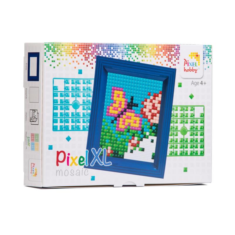 Pixelhobby XL - Complete set met Lijst - Vlinder