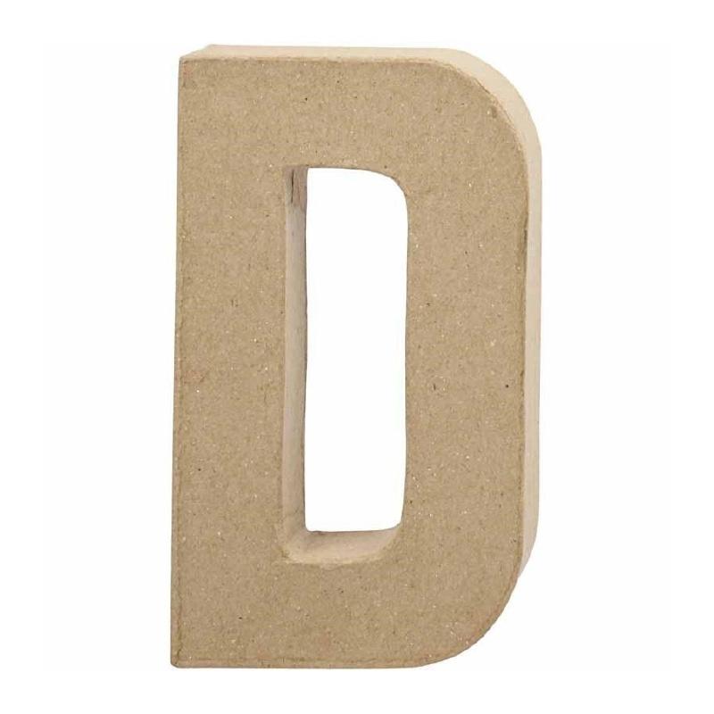Papier-mache Letter D | 20 cm