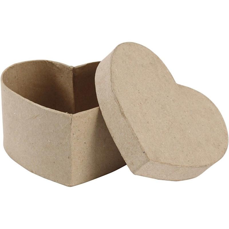 Hartvormig Doosje van papier-mache | 11,5 x 11 ,5 cm