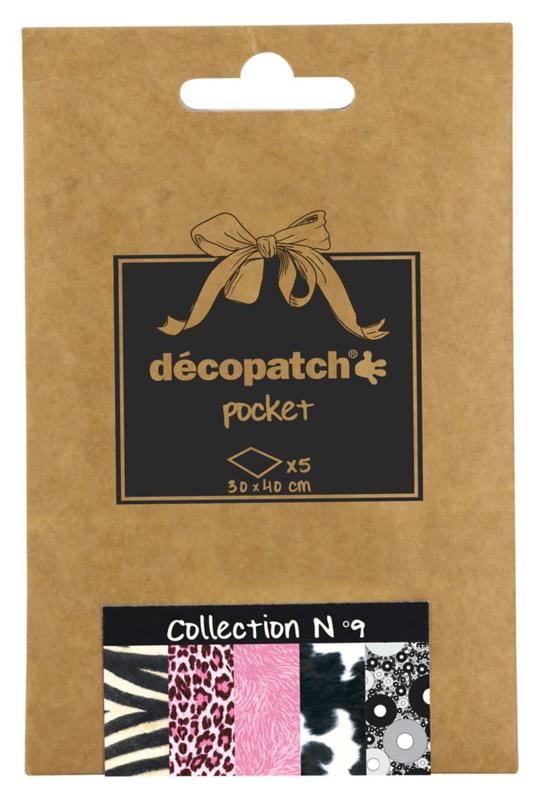 Decopatch Pocket nr 9 | 5 vellen decoupage papier van 30 x 40 cm