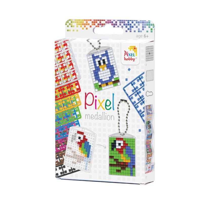 Pixelhobby Sleutelhanger Set - 3 Medaillons - 38 Patronen