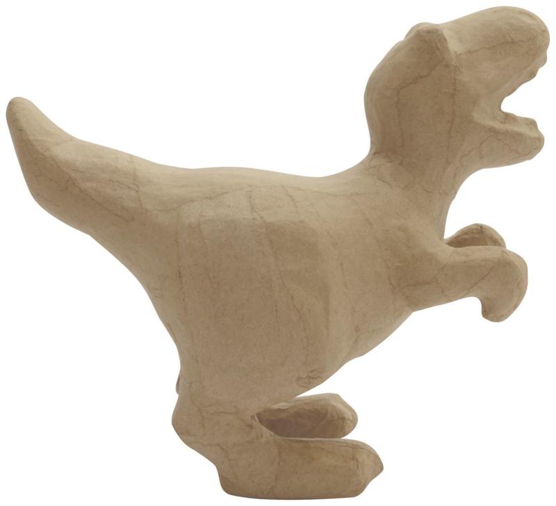 Dinosaurus van papier-mache | 18 cm