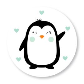 Sluitzegel pinguïn mintgroen