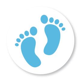 Sluitzegel voetjes blauw