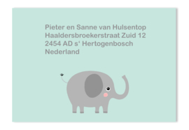 Adressticker olifant mint