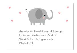 Adressticker sanne olifant