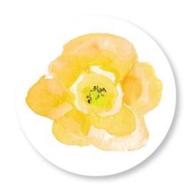 Sluitzegel Mila bloem geel
