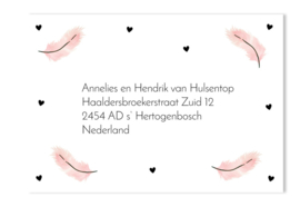 Adressticker veren roze