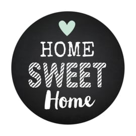 Sluitzegel Home Sweet Home krijtbord