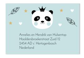 Adressticker panda mint