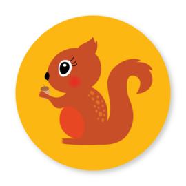 Sluitzegel eekhoorn geel