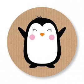 Sluitzegel Pinguin roze