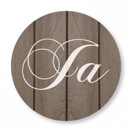 Sluitzegel hout hartje Ja