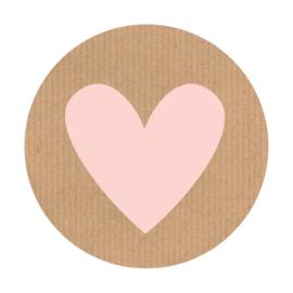 Sluitzegel kraft hartje roze