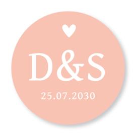 Ronde sticker met datum
