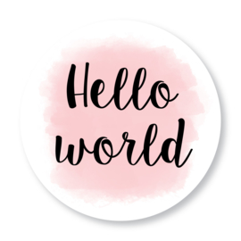 Sluitzegel Hello world roze
