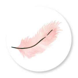 Sluitzegel veer roze