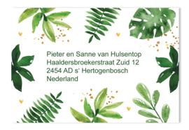 Adressticker Botanical