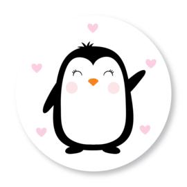 Sluitzegel pinguïn roze