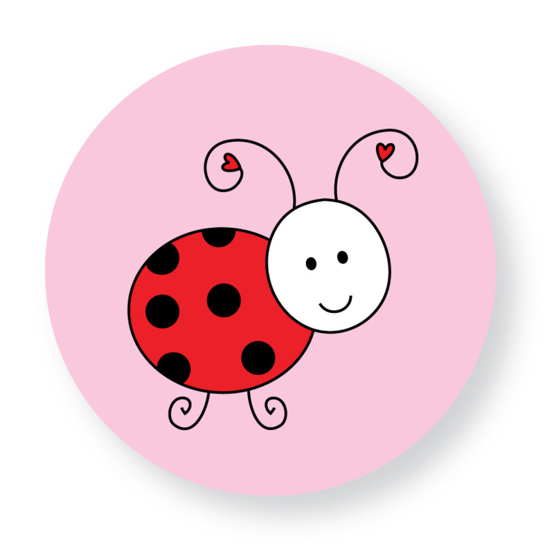 Sluitzegel lieveheersbeestje roze